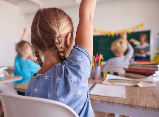 Meisje in klas